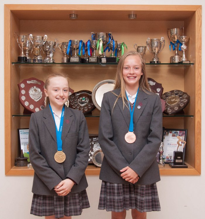 Gymnasts   Medal winners - Sophie Imrie-Gale and Liberty Laurence