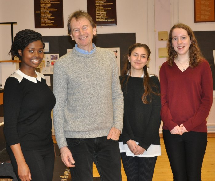 Bromley High's History & Politics Society Presidents with TV Historian and Academic Michael Wood