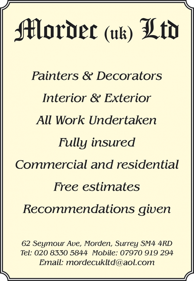 PAINTING, DECORATING AND BUILDING WORKS