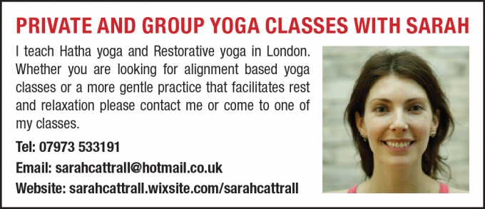 PRIVATE AND GROUP YOGA CLASSES WITH SARAH