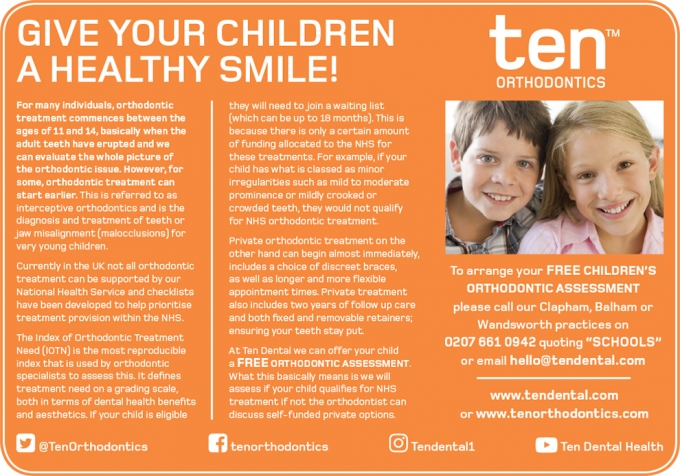 GIVE YOUR CHILDREN A HEALTHY SMILE!