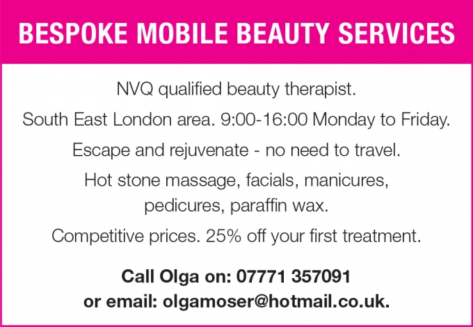 Bespoke mobile beauty services