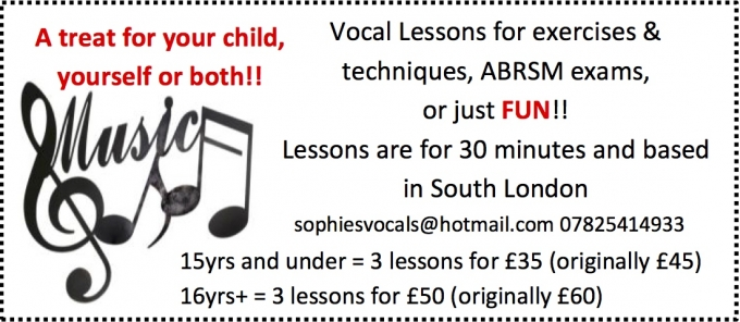 CHILD & ADULT VOCAL LESSONS