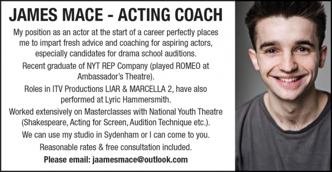 JAMES MACE - ACTING COACH