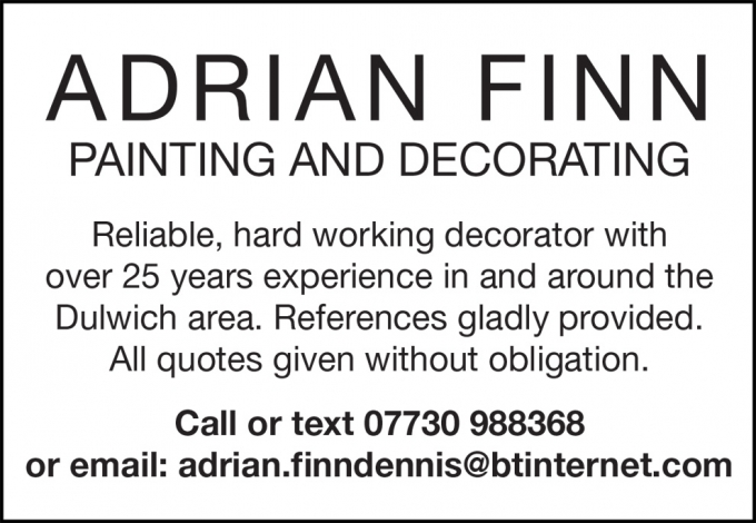 ADRIAN FINN - PAINTING AND DECORATING