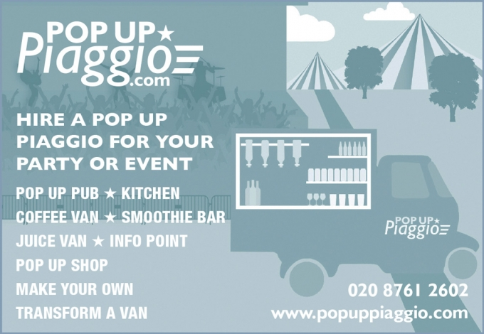 HIRE A POP UP PIAGGIO FOR YOUR EVENT