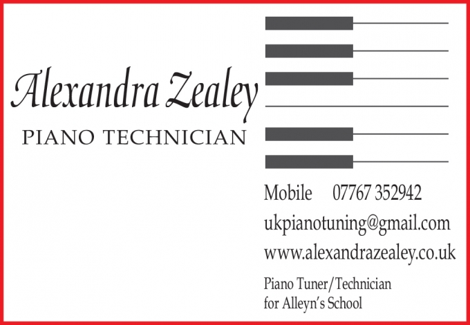 Alexandra Zealey - Piano Technician