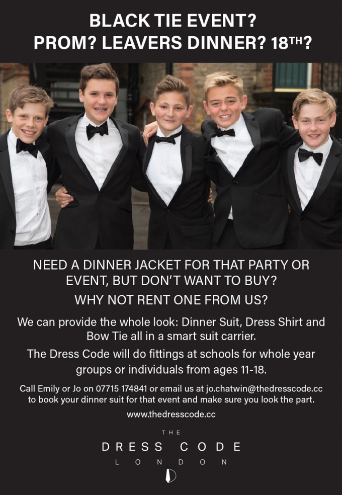 DINNER JACKET & SUIT HIRE - FOR TEENAGERS