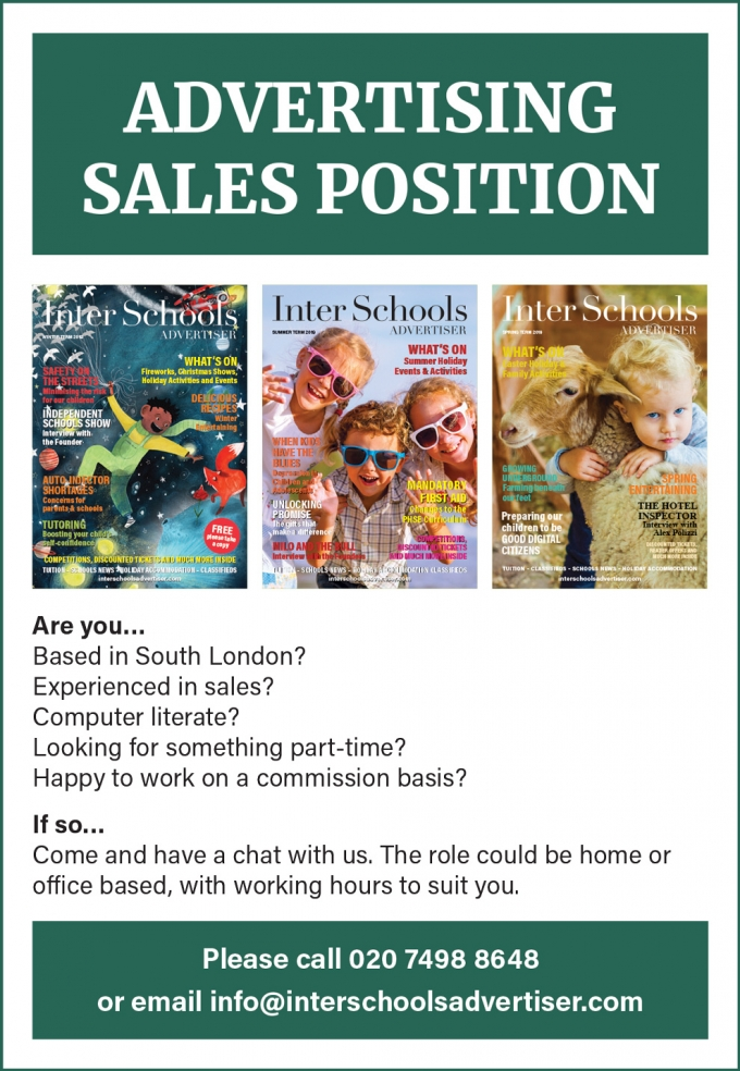 ADVERTISING SALES - PART-TIME & FLEXIBLE